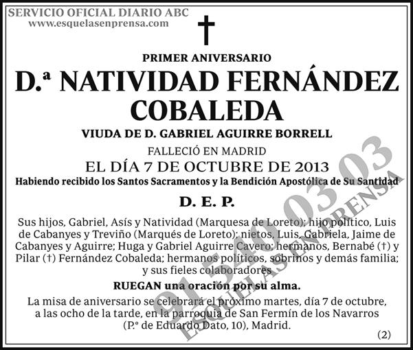 Natividad Fernández Cobaleda